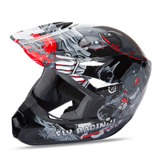 fly racing mx invazion kinetic helmet - dirt bike