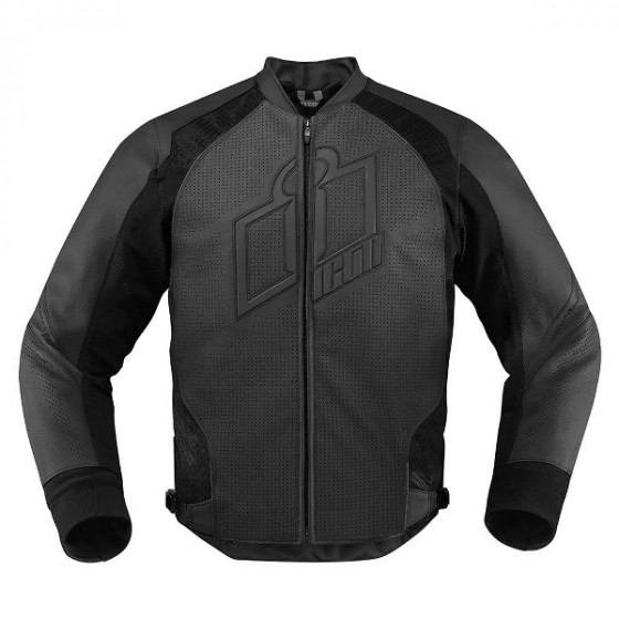 icon perforated hypersport jacket leather - motorcycle