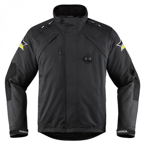 icon waterproof monochromatic dkr raiden jacket textile - motorcycle