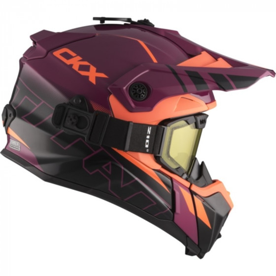 ckx fiberglass avalanche titan adult helmet full face - snowmobile