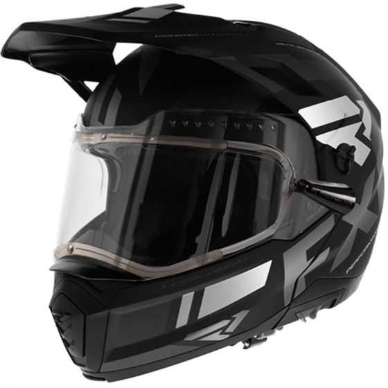 fxr racing shield) (electric team maverick adult helmets electric shield - snowmobile