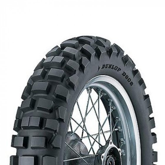 dunlop 90%/10% rear d606 dual sport tires - motorcycle